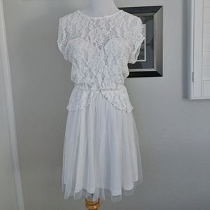 NWT ASOS lace tulle dress
